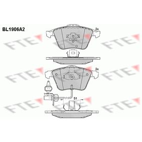 Bremsbelagsatz, Scheibenbremse Höhe: 72,86mm, Dicke/Stärke: 20,3mm mit OEM-Nummer 8E0 698 151C