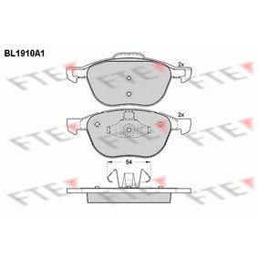 Bremsbelagsatz, Scheibenbremse Breite 2: 156,2mm, Breite: 155mm, Höhe 2: 66,9mm, Höhe: 62,2mm, Dicke/Stärke: 18,4mm mit OEM-Nummer C2Y33323ZB