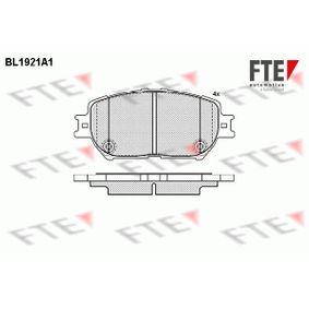 Bremsbelagsatz, Scheibenbremse Höhe: 58,5mm, Dicke/Stärke: 17,3mm mit OEM-Nummer 04465-44140