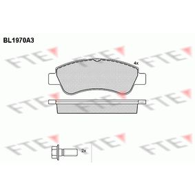 Brake Pad Set, disc brake Height: 51,6mm, Thickness: 19mm with OEM Number 16 370 145 80