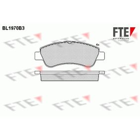 Brake Pad Set, disc brake Height: 51,6mm, Thickness: 19mm with OEM Number 1637014580