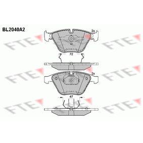Bremsbelagsatz, Scheibenbremse Höhe: 68,37mm, Dicke/Stärke: 20,3mm mit OEM-Nummer 24161
