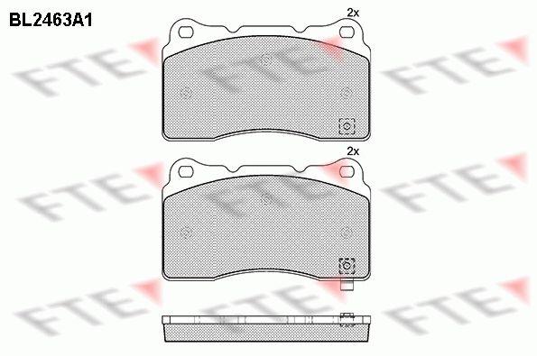 FTE  BL2463A1 Bremsbelagsatz, Scheibenbremse Höhe: 77,3mm, Dicke/Stärke: 16mm