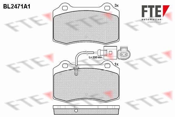 FTE  BL2471A1 Bremsbelagsatz, Scheibenbremse Höhe: 69mm, Dicke/Stärke: 14,7mm