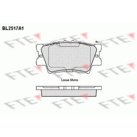 Bremsbelagsatz, Scheibenbremse Höhe: 49,2mm, Dicke/Stärke: 15,2mm mit OEM-Nummer 0446606100