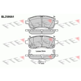 Bremsbelagsatz, Scheibenbremse Höhe: 51,5mm, Dicke/Stärke: 16,5mm mit OEM-Nummer 24285