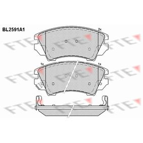 Brake Pad Set, disc brake Height: 66,6mm, Thickness: 19,3mm with OEM Number 92257988