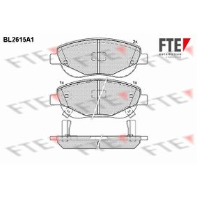 Bremsbelagsatz, Scheibenbremse Höhe: 61,1mm, Dicke/Stärke: 19,5mm mit OEM-Nummer 24946