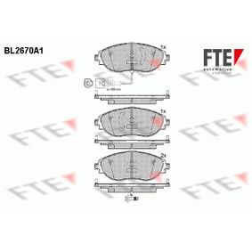 Brake Pad Set, disc brake Width: 175,1mm, Height: 69,6mm, Thickness: 20mm with OEM Number 7N0 698 151 E