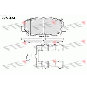Bremsbelagsatz, Scheibenbremse Höhe: 61mm, Dicke/Stärke: 15,8mm mit OEM-Nummer 25564 FTE