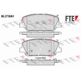 Bremsbelagsatz, Scheibenbremse Höhe: 60mm, Dicke/Stärke: 17,6mm mit OEM-Nummer 58101-A6A20