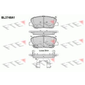 Bremsbelagsatz, Scheibenbremse Höhe: 60mm, Dicke/Stärke: 16,9mm mit OEM-Nummer 249.17