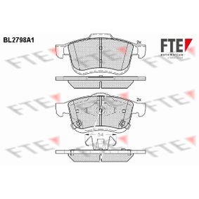 Bremsbelagsatz, Scheibenbremse Höhe 2: 71,6mm, Höhe: 69,1mm, Dicke/Stärke: 20mm mit OEM-Nummer 68211488AA