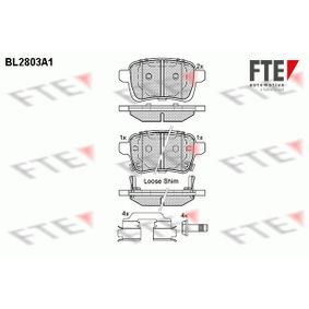 Bremsbelagsatz, Scheibenbremse Höhe 2: 48,3mm, Höhe: 47,7mm, Dicke/Stärke: 17,1mm mit OEM-Nummer 68211493AA