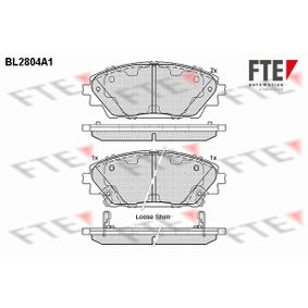 Brake Pad Set, disc brake Height: 55,7mm, Thickness: 15,8mm with OEM Number B4Y03328ZA