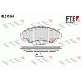 Bremsbelagsatz, Scheibenbremse Höhe: 55mm, Dicke/Stärke: 16mm mit OEM-Nummer 55810 61M 50