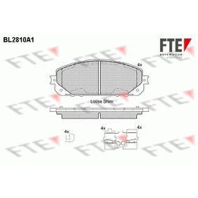 Bremsbelagsatz, Scheibenbremse Höhe: 62mm, Dicke/Stärke: 17,5mm mit OEM-Nummer 68212 327AB
