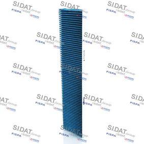 Filter, Innenraumluft Länge: 542mm, Breite: 110mm, Höhe: 25mm mit OEM-Nummer 1491752