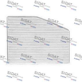 Filter, Innenraumluft Länge: 270mm, Breite: 210mm, Höhe: 35mm mit OEM-Nummer 1K1819669
