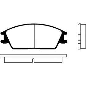 Bremsbelagsatz, Scheibenbremse Breite: 49mm, Dicke/Stärke: 15mm mit OEM-Nummer 45022-SA6-600