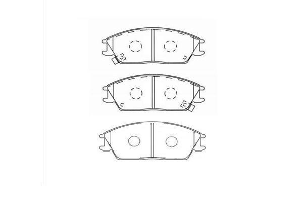 KAVO PARTS  BP-3004 Bremsbelagsatz, Scheibenbremse Breite: 49mm, Dicke/Stärke: 14,5mm