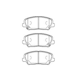 Bremsbelagsatz, Scheibenbremse Breite: 56mm, Dicke/Stärke: 16,5mm mit OEM-Nummer 581012MA00