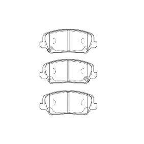 Bremsbelagsatz, Scheibenbremse Breite: 56mm, Dicke/Stärke: 16,5mm mit OEM-Nummer 58101 2TA20