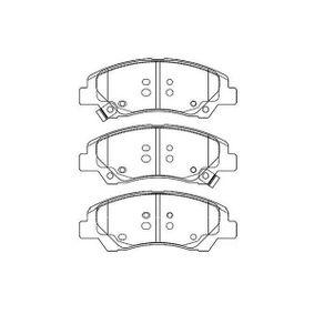 Bremsbelagsatz, Scheibenbremse Breite: 44mm, Dicke/Stärke: 16,3mm mit OEM-Nummer 58101B4A00