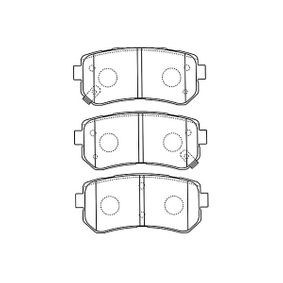 Brake Pad Set, disc brake Width: 37mm, Thickness: 14,5mm with OEM Number 58302-4WA10