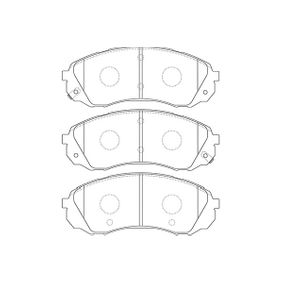 Bremsbelagsatz, Scheibenbremse Breite: 57mm, Dicke/Stärke: 16,5mm mit OEM-Nummer 58101-4DE00