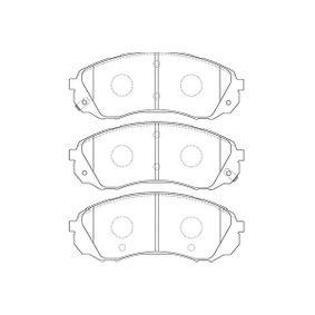 Bremsbelagsatz, Scheibenbremse Breite: 57mm, Dicke/Stärke: 16,5mm mit OEM-Nummer 58101-4DA00