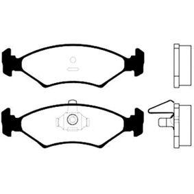 Bremsbelagsatz, Scheibenbremse Breite: 41mm, Dicke/Stärke: 17,5mm mit OEM-Nummer 1064 763