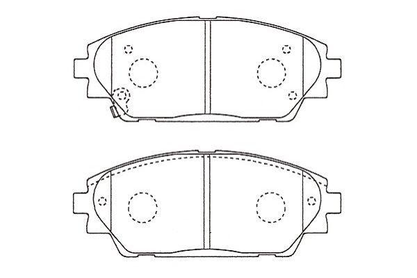 KAVO PARTS  BP-4584 Brake Pad Set, disc brake Width: 55mm, Thickness: 15,5mm