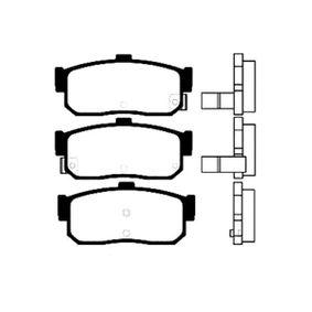Bremsbelagsatz, Scheibenbremse Breite: 45mm, Dicke/Stärke: 16,5mm mit OEM-Nummer AY060-NS015