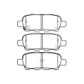Brake Pad Set, disc brake BP-6571 Qashqai / Qashqai +2 I (J10, NJ10) 1.6 dCi MY 2012
