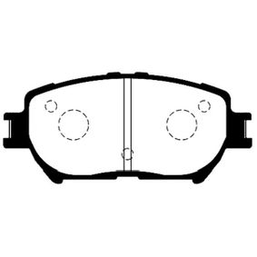 Bremsbelagsatz, Scheibenbremse Breite: 55mm, Dicke/Stärke: 17mm mit OEM-Nummer 04465YZZDZ