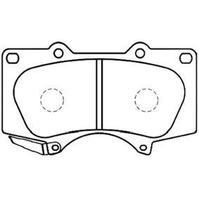 Bremsbelagsatz, Scheibenbremse Breite: 55mm, Dicke/Stärke: 16,5mm mit OEM-Nummer 044650K360