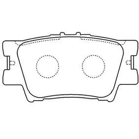 Bremsbelagsatz, Scheibenbremse Breite: 44,5mm, Dicke/Stärke: 15mm mit OEM-Nummer 04466-YZZE8
