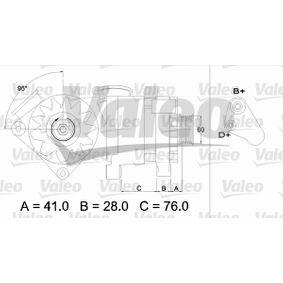 Lichtmaschine Rippenanzahl: 6 mit OEM-Nummer 12311738515