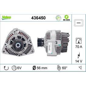 Lichtmaschine Rippenanzahl: 6 mit OEM-Nummer A 008 154 96 02