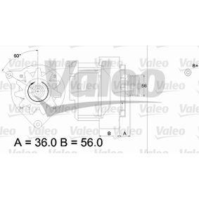 Lichtmaschine Rippenanzahl: 6 mit OEM-Nummer A00 715 46802