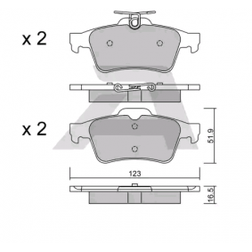 Bremsbelagsatz, Scheibenbremse Breite: 123mm, Dicke/Stärke: 16,5mm mit OEM-Nummer 3 074 203 1