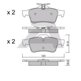 2010 Mazda 3 BL 2.0 (BLEFP) Brake Pad Set, disc brake BPCI-2002