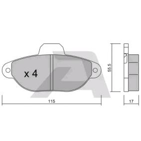 Brake Pad Set, disc brake BPFI-1006 PANDA (169) 1.2 MY 2020