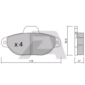 Brake Pad Set, disc brake BPFI-1006 PANDA (169) 1.2 MY 2018