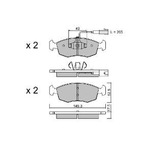 Kit pastiglie freno, Freno a disco Largh.: 151,4mm, Spessore: 17,5mm con OEM Numero 77 366 538