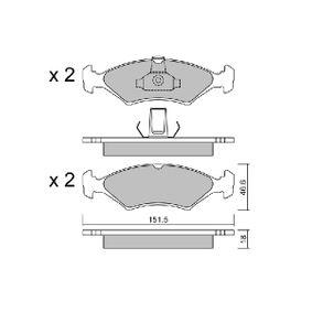 Bremsbelagsatz, Scheibenbremse Breite: 151,5mm, Höhe: 46,6mm, Dicke/Stärke: 18mm mit OEM-Nummer 1 010 503