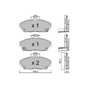 Комплект спирачно феродо, дискови спирачки BPHO-1000 800 (XS) 2.0 I/SI Г.П. 1995