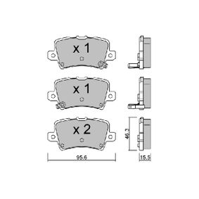 Brake Pad Set, disc brake BPHO-2002 CIVIC 8 Hatchback (FN, FK) 2.0 i-VTEC Type R (FN2) MY 2010