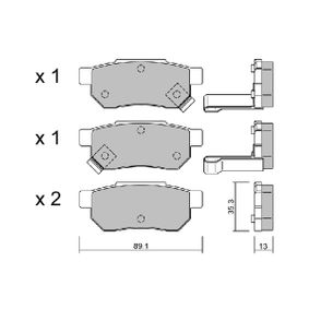 Комплект спирачно феродо, дискови спирачки BPHO-2901 25 Хечбек (RF) 2.0 iDT Г.П. 2000